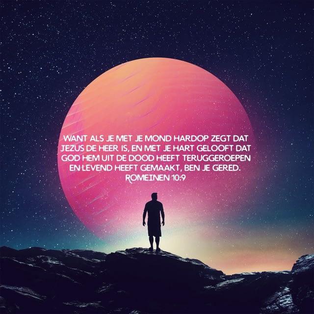 Bijbeltekst over hoe je weet dat je gered bent | Romeinen 10:9